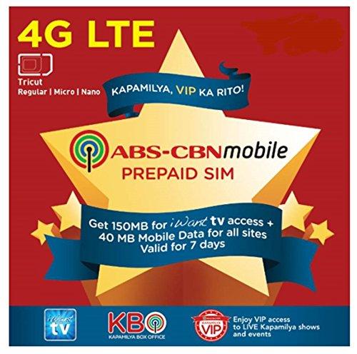 ABS-CBN Mobile Prepaid Tricut (Regular, Micro, Nano) LTE SIM - Stores City Daly