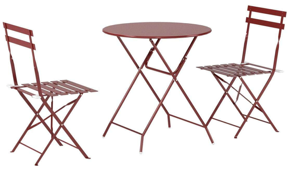 Cosco Outdoor Bistro Set, 3 Piece, Folding, Red by Cosco Outdoor Living (Image #5)