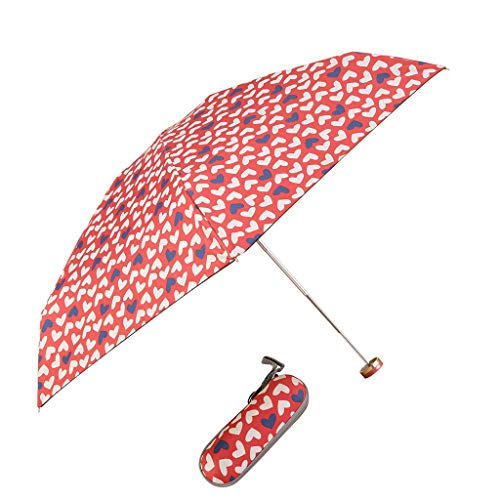 IEasⓄn_Rain Gear,Easy Portable Aluminum Alloy Five Fold Manual Open Black Plastic Umbrella Package 1 x Sun Umbrella+ 1 x BOX