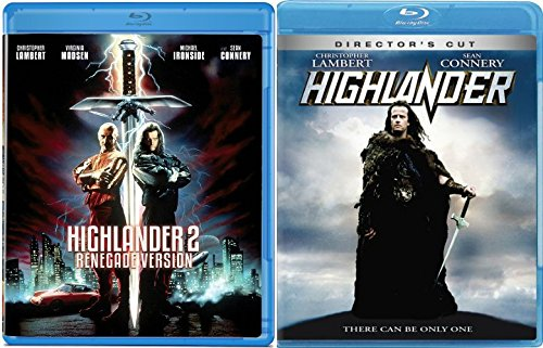 Highlander + Highlander 2 (Blu-ray) The Quickening Renegade Version Movie Sci-Fi Fantasy Action set