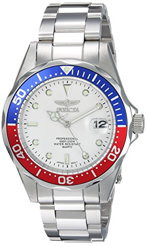 Invicta Men's 'Pro Diver' Quartz Stainless Steel Casual Watch, Color Silver-Toned (Model: 8933) from Invicta