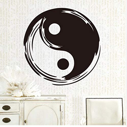 WYTTT Chinese Style Wall Sticker for Tai Chi Removable Flag Wall Decals Waterproof Vinyl Stickers Art Kung Fu Poster 43X43Cm Wall Sticker