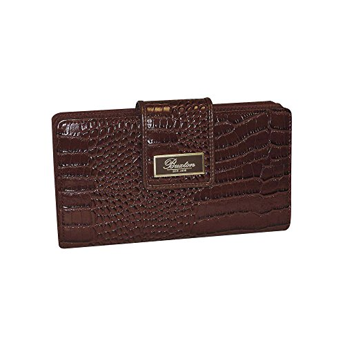 Buxton Exotic Heritage Super Wallet, Brown, One Size