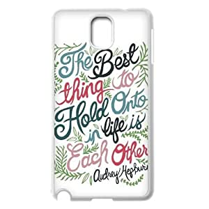 Custom Samsung Galaxy Note 3 N9000 Case, Zyoux DIY New Fashion Samsung Galaxy Note 3 N9000 Cover Case - Audrey Hepburn Quotes