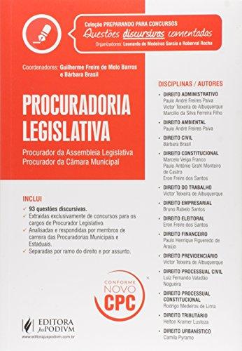 Procuradoria Legislativa. Procurador da Assembleia Legislativa Procurador da Câmara Municipal - Coleção Preparando Para Concursos