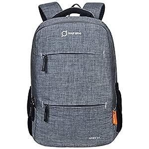 MURANO Unisex Grey Colour Laptop Backpacks (Murano 9050038B 2)
