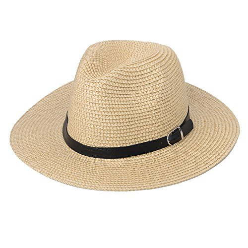 zelta-straw-weaving-fedora-hat-wide-brim-summer-beach-sun-protection-hat-pu-leather-band-decoration-