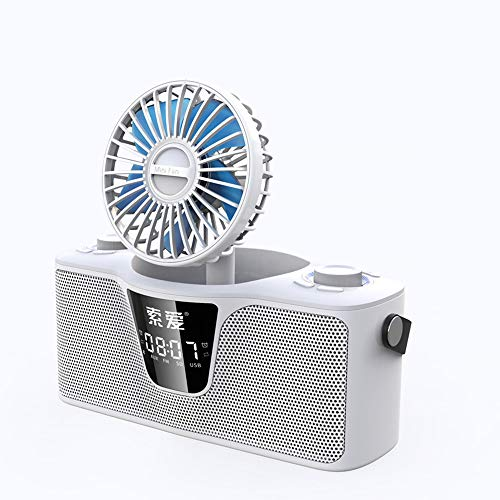 reless Bluetooth Speaker Over-The-top subwoofer Fan Audio Small Steel Gun high Volume Outdoor Portable Laptop Mobile Phone Mini car Alarm Clock Card Home 3D Surround ()