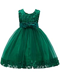 Flower Girl Pageant Dress Girls Elegant Lace Tulle...