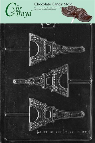 Chocolate Usa Gift Tower - Cybrtrayd M155 Eiffel Tower Chocolate Candy Mold with Exclusive Cybrtrayd Copyrighted Chocolate Molding Instructions
