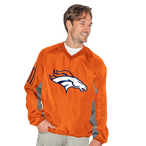 G-III Sports by Carl Banks Adult Men Gridiron V-Neck Pullover, Orange, X-Large