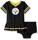 Gerber Childrenswear NFL Pittsburgh Steelers Girls 2018Dazzle Dress & Panty, Black, 0-3 Months