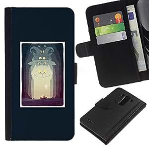 EJOY---La carpeta del tirón la caja de cuero de alta calidad de la PU Caso protector / LG G3 / --Alice cartel Fairytale Story Niños Niño