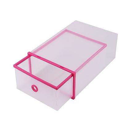 5 Cajas de Zapatos Plegables y Resistentes, Cajas para Almacenamiento de Zapatos Transparente y de