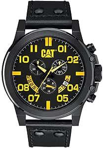 Caterpillar PS16334137 - Reloj de cuarzo para hombre, correa de cuero color negro