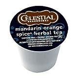 Celestial Seasonings Mandarin Orange Spice Herbal Tea, K-Cup Portion Pack for Keurig K-Cup Brewers, 24-Count (Pack of 2)