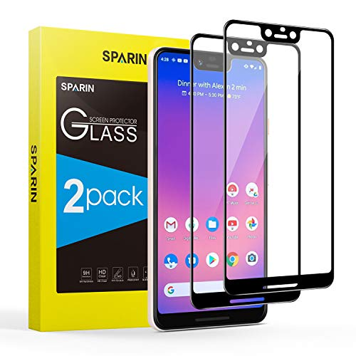 Pixel 3 XL Screen Protector,[2-Pack] SPARIN Google Pixel 3 XL Tempered Glass Screen Protector,3D Full Coverage/Bubble Free/Scratch Resistant for Google Pixel 3 XL,6.3inch