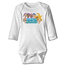 Baby 100% Cotton Long Sleeve Onesies Toddler Bodysuit Bubble Guppies Climbing Clothes