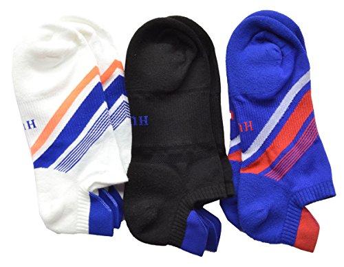 Hue Air Sleek Back Liner w/Cushion 3Pack Socks (Royal Blue Mix)