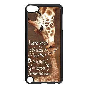 Halnziye I Love You To The Moon Back To Infinity And Beyond Forever And Ever Hard Plastic Case Cover Compatible for iPod Touch 5