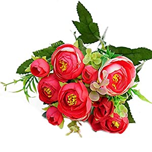 muxiLH 1Pc Artificial Flower Camellia Home Garden Party DIY Photography Props Decor - Red 74