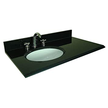 Pegasus 37 In W Granite Vanity Top With Offset Left Bowl And 8 In