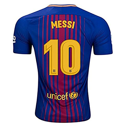 Messi Barcelona Shirt - Newois New Season Barcelona Home Messi #10 2017-2018 Soccer Jersey For Men's Color Blue Size S