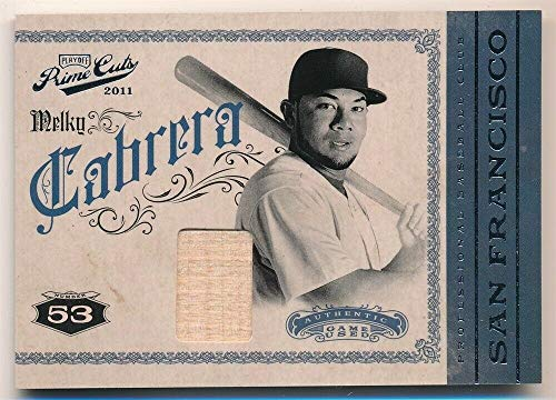 2011 Sp Game Bat - BIGBOYD SPORTS CARDS MELKY Cabrera 2011 Playoff Prime CUTS RELIC Game Used BAT SP #154/199 F2