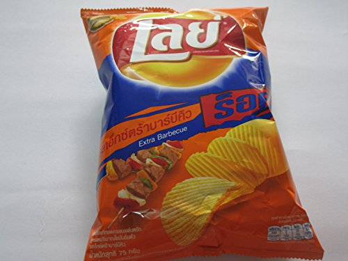 Price comparison product image Lay's Rock Potato Chips, Extra Barbecue Net Wt. 75g.