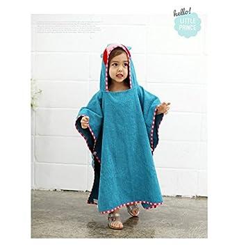 Migmv Reine Baumwolle Kinder Handtuch Handtuch Cartoon Beach Umhang