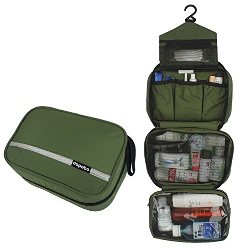 Dopobo Travelling Toiletry Bag Portable Hanging Water-Resistant Wash Bag for Travelling, Business Trip, Camping (army green) by Dopobo