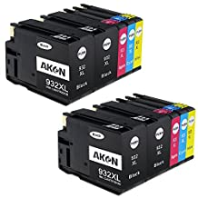 Aken High Capacity Compatible Ink Cartridge Replacement for HP 932 933 932XL 933XL, 10 Pack (4 Black, 2 Cyan, 2 Magenta, 2 Yellow) Used for HP Officejet Pro 6700 7612 7610 6600 6100 7110 Printers