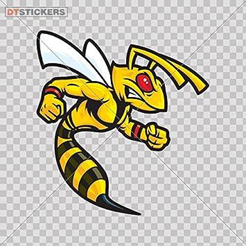 Amazon Com Hobby Vinyl Decal Bee Hornet Cartoon Hobby Decor Yellow