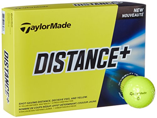 TaylorMade Distance Plus Golf Ball, Yellow Taylormade Womens Golf Ball