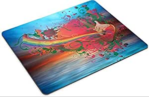 Mousepad Music rainbow on the ocean sunset background A Photo 11595235 Low Friction Tracking Surface LOL Dota 2 WOW