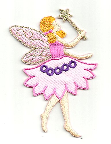Fairy Applique - Fairy Angel Iron on Patches Embroidered Sew Appliqué Patches Motif Patch 2 pcs/pack Pt-1140