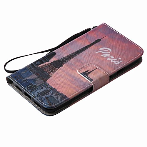 Yiizy Google Pixel XL Funda, Torre Eiffel Diseño Solapa Flip Billetera Carcasa Tapa Estuches Premium PU Cuero Cover Cáscara Bumper Protector Slim Piel Shell Case Stand Ranura para Tarjetas Estilo
