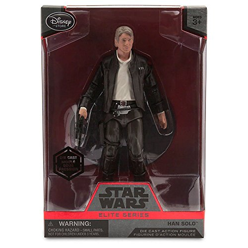 Star Wars Han Solo Elite Series Die Cast Action Figure - 6 1/2 Inch - Star Wars: The Force Awakens