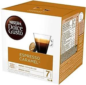 NESCAFE Dolce Gusto Espresso Caramel Coffee Pods, 16 Capsules