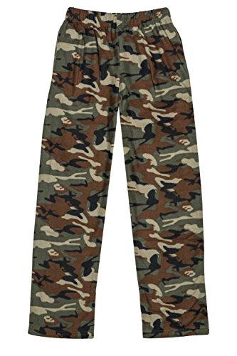 - North 15 Boys Cozy Micro Fleece Camouflage Pajama Pants-1227B-1-18