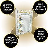 Baby Shower Games - 40 Cards Emoji
