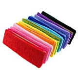 Fashionable Gym Workout Women's Yoga Soft Cotton Stretchy Headbands Sweatbands Sports Indoor Outdoor Yoga Dance Exercise Fitness Headbands (15pcs Mixed Colors)