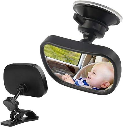 R/ückspiegel Baby Spiegel Baby Auto Spiegel R/ückspiegel Baby Auto Spiegel Baby mit Saugnapf Clip Schwarz