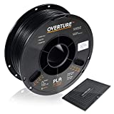 OVERTURE PLA Filament 1.75mm with 3D Build Surface 200mm × 200mm 3D Printer Consumables, 1kg Spool (2.2lbs), Dimensional Accuracy +/- 0.05 mm, Fit Most FDM Printer, Black: more info