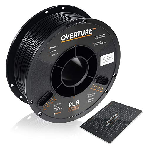 OVERTURE PLA Filament 1.75mm with 3D Build Surface 200mm ×
