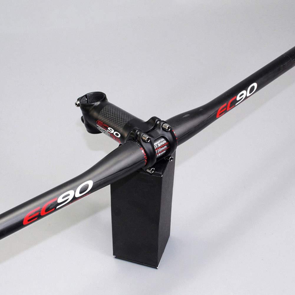 CplaplI Accessori da Ciclismo 600-760mm in Fibra di Carbonio Manubrio Bicicletta MTB Mountain Road Bike Flat//Riser bar-720mm Flat