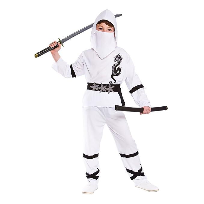 Ninja Nino Disfraz Talla Grande 8-10 años (134-146cm ...