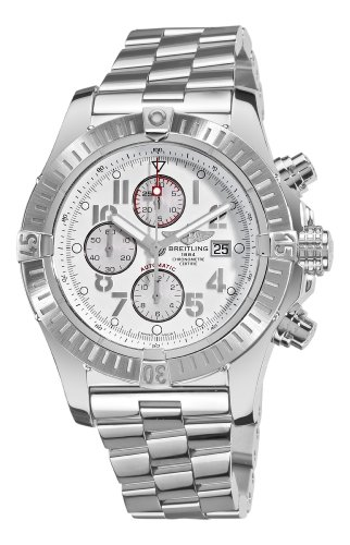 Breitling Men's A1337011/A699 Super Avenger New White Chronograph Dial Watch