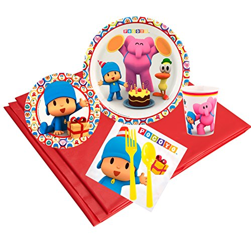 Pocoyo Childrens Birthday Party Supplies - Tableware Party Pack (24) -