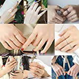 SILBERTALE 1.2mm Thin 925 Sterling Silver Stackable Ring Midi Knuckle Stacking Rings Set Pinky Ring Closed Toe Ring for Women Size 2.5